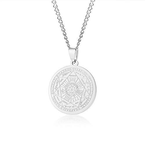 HWL Regalo Collar, Talismán De Los Siete Arcángeles Medalla Colgante
