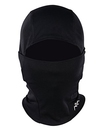 TRAILSIDE SUPPLY CO. Balaclava Windproof Ski Mask Cold Weather Face Mask Motorcycle Cycling Hood,Black