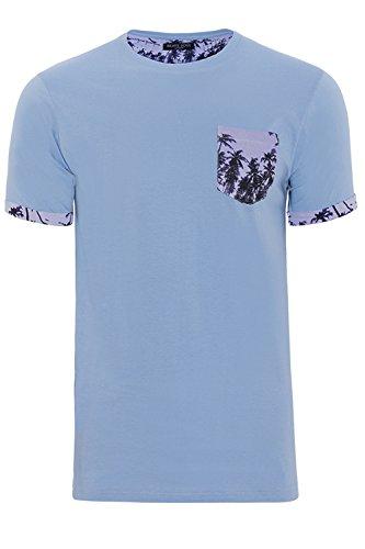 Brave Soul -  T-Shirt - Camicia - Uomo Sky Blue Taglia-L