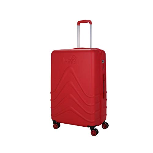 Luggo - Maletas Capullo (Rojo, 68cm) 8 Ruedas Giratorias - Cerradura TSA - 20% Más Livianas