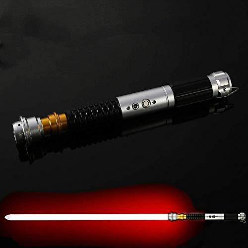 Y&Z RGB Lightsaber Black Series, 11 Colores, 5 Sonidos, Espada LED, decoloración, Mango de Metal Star Wars Lightsaber para niños, Adultos, Fiestas navideñas (Hoja de 40 cm)