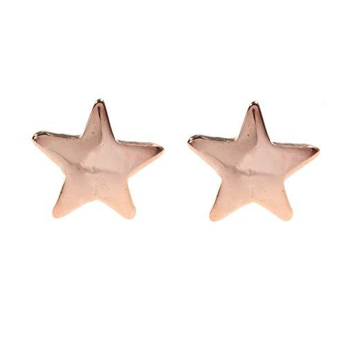 Pendientes Estrella Plata de Ley chapados en Oro rosa - Pendientes mini