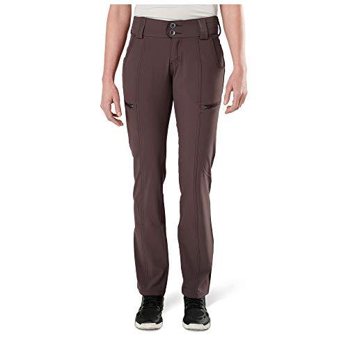 5.11 Tactical Damen Mesa Pants, Cargotaschen, konturierter Bund DWR Finish, Style 64417, Damen, 644175142L Mesa Pant Raisin 2 L, Raisin, 2-Long