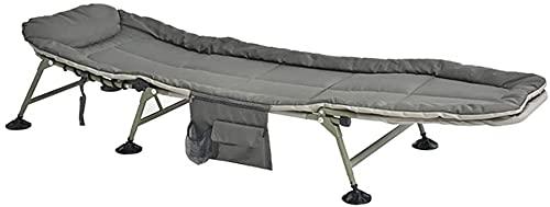 YZPDD Terrasse Liegestühle Lounge Chair, Light Nap Faltbett Büro Mittagspause Single Recliner Tragbares Lagerbett Einzelbett 200x63x27cm Dauerhaft
