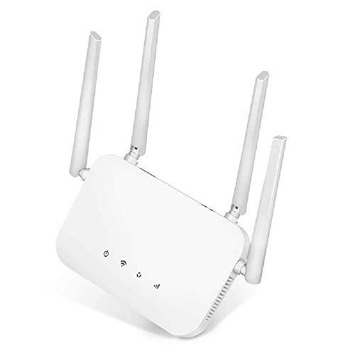 meixiang Multifunktionsrouter, Heim-WLAN-Router, Vollständiger Netcom-Router Weiß