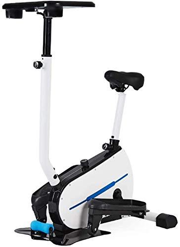 DSHUJC Máquina elíptica Bicicleta elíptica Bicicleta elíptica, máquina de Ejercicios y Pasos Ajuste Continuo de la Resistencia Entrenador elíptico + Soporte para Table