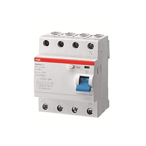 Interruptor diferencial F204AS-100/0,3, tipo A, Selectivo, 4 polos, 100 A, corriente residual...