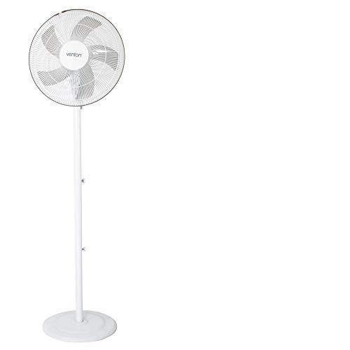 Venton Standventilator SV170 I Höhenverstellbarer & angenhem leiser Ventilator 1,60 m I Turbo Lüfter mit 3 Geschwindigkeitsstufen I Standing Fan 50 W I Stehventilator weiß