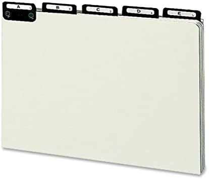 50576 Smead 100/% Recycled Pressboard File Guides Letter Size A-Z Flat Metal 1//5-Cut Tab with Insert Set of 25 Gray//Green