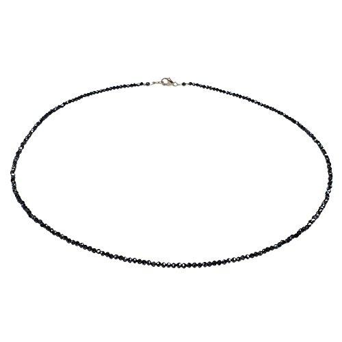 Funk-Collier facettierter, Mystic Spinell (Rainbow), ca. 45 cm, Ø ca. 3 mm, 925oo SI Schloß, Damen