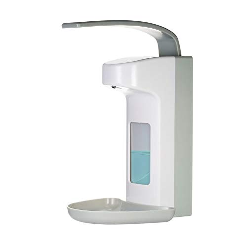 500ml Elbow-press Zeepautomaat Ongehuwd Fles Manual Shampoo Box Rest Room Handreinigers Hand Washing Fluent Home Kitchen supplies (Color : White)