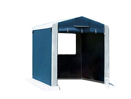 dwt Gerätezelt Cabina PVC 150x220 cm Beistellzelt freistehend Vorzelt Wohnwagen Camping Gerätehaus Fahrradgarage Mobile Zeltgarage
