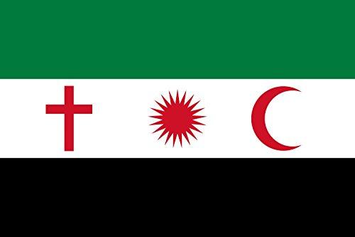 magFlags Drapeau Large Liwa Ahfad Saladin Variant Opposition | Version of File Variant Syrian Opposition Flag Symbols | Drapeau Paysage | 1.35m² | 90x150cm