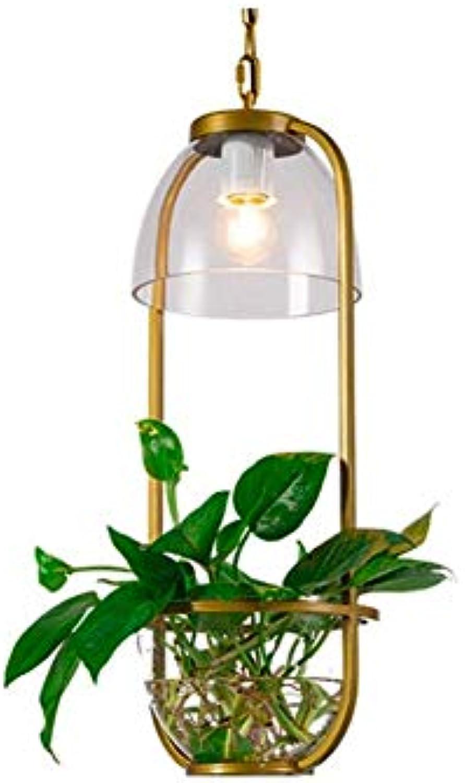 Kronleuchter, Schmiedeeisen Wandleuchte Glas Kronleuchter Kreative Bar Beleuchtung Wohnzimmer Cafe Plant Kronleuchter