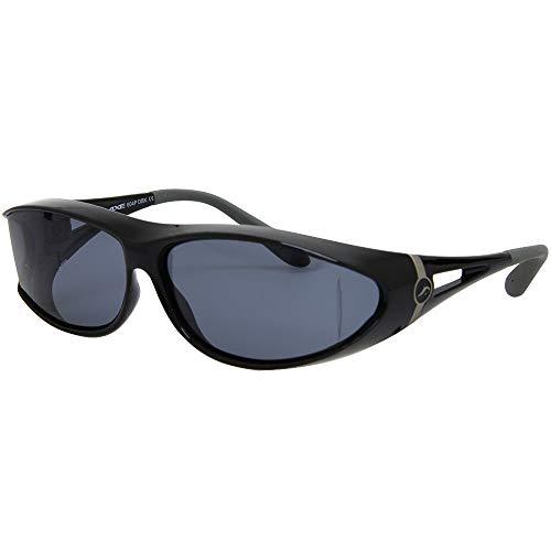 サングラス 偏光 オーバーグラス SG-604P-DBK オーバーサングラス アックス メガネの上から