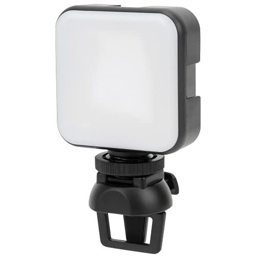FEYV Luz LED, luz de Flash de Foto Recargable con Clip con Clip Desmontable para fotografía, Maquillaje para teléfonos Inteligentes