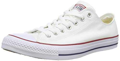 Converse Chuck Taylor All Star Season Ox, Zapatillas de Tela Unisex Adulto, Blanco, 42.5 EU