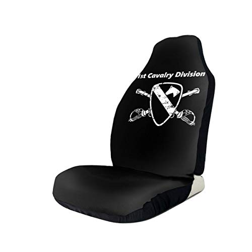 New 1st Cav Div Car Seat Covers for Vehicles Universal 3D Printing Car Seat Covers Front Seats - 1pc...