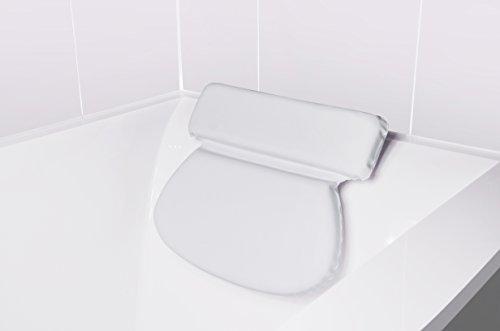 Bach & Berg Badewannenkissen | Weiches Badekissen für eine traumhafte Zeit in der Badewanne oder im Whirlpool mit Nackenkissen | Wannenkissen mit starken Saugnäpfen zur Erholung im Home SPA | - 6