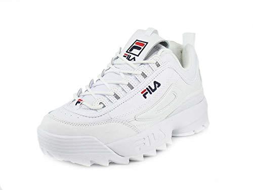 Zapatillas Strada Disruptor de Fila para hombre, (Blanco azul marino rojo), 40.5 EU