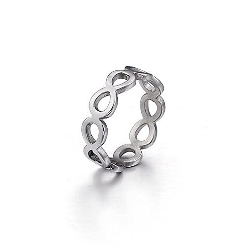 925 Sterling Silver o 14K Simple Link Ring Oro Simple Anillos de oro | Banda de apilamiento minimalista de las mujeres