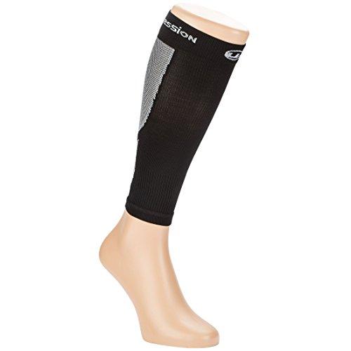 Ultrasport Niveau de Compression 23-32 mmHg Legging Mixte Adulte, Noir/Blanc, 25-31