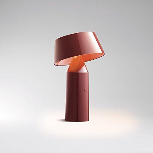 """Marset - Lámpara de mesa LED inalámbrica, diseño de Bicoca"""", color rojo burdeos"""