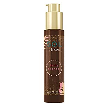 SOL by Jergens Self Tanner Body Bronzer For All Unique Skin Tones Sunless Tanning Wash-off Luminous Body Bronzer Natural-Looking Self-bronzer and Tan Intensifier for Instant Bronze 3.4 Ounce