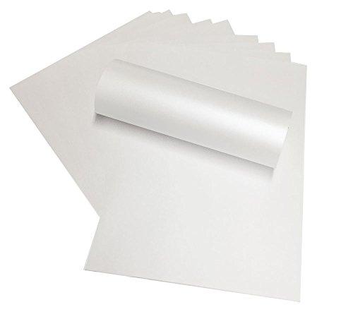 50 x A4 120 g, Weiß mit Perlglanz, Papier, geeignet für Tintenstrahldrucker und Laser Drucker