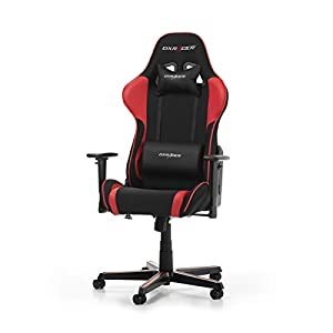 DX RACER Formula F11 Gaming Chair, Black/Red, Tela, Schwarz/Rot mit Stoffbezug, 85.5 x 69.7 x 35.2 cm