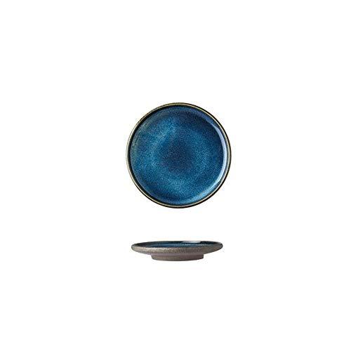 WEI-LUONG Kiln Glaze Creativo casa Piatto Piatto di Ceramica da tavola a Forma di Rice Bowl Zuppa di Piatto Piatto C 18.5X18.5X3Cm Piatto