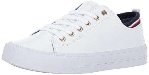 Tommy Hilfiger Women's Two Sneaker, White, 6