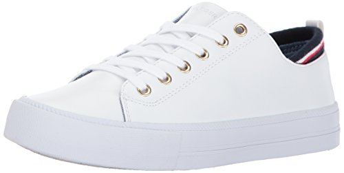 Tommy Hilfiger Women's Two Sneaker, White, 10 Medium US