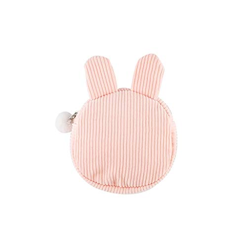 Pencil Case Cute Pen Bunny Makeup Brush Bag Travel Organizer Cosmetic Pouch Holder Large Capacity Portable Organizer (Color : Pink)