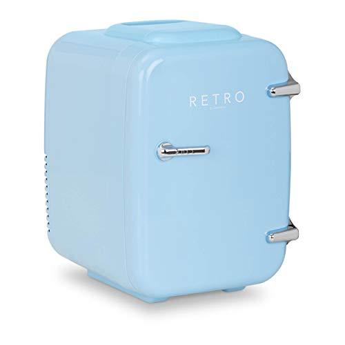 bredeco Mini Refrigerador Nevera De Viaje BCMF-4L-LB (Temperatura: 5-65 °C, 12/24 / 100-240 V, Pantalla LED, Volumen: 4 L, Color azul)