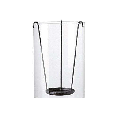 LEONARDO HOME 012818, Polyurethan grau Glas Kerzenständer