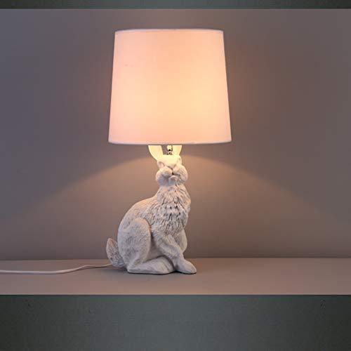LILICEN Lámparas de mesa, Personalidad Retro simple Industrial comedor cuarto de televisión de la lámpara, creativo conejo Lámparas de mesa, moderna minimalista dormitorio lámpara de cabecera, Light R
