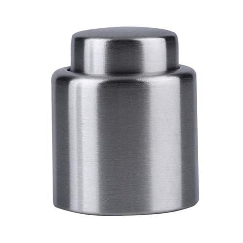 Heng zilveren roestvrijstalen wijnflesstop Champagne Vacuümbesparende onderhouder Pomp Keuken Restaurant Bar Tool, zilver