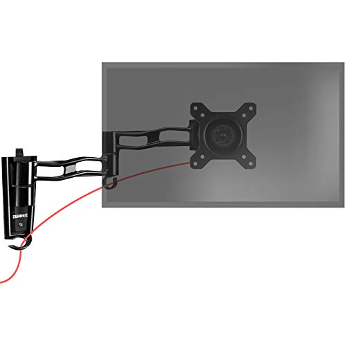 Duronic DM35W1X3 Single LCD LED Wall Mount Arm Monitor Stand Bracket with Adjustibility (Tilt ±15°|Swivel 180°|Rotate 360°) + 2 Year Warranty