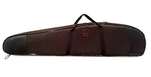 CAZA Y AVENTURA Funda Acolchada Cordura marrón, para Rifle montado con Visor. 120 cm