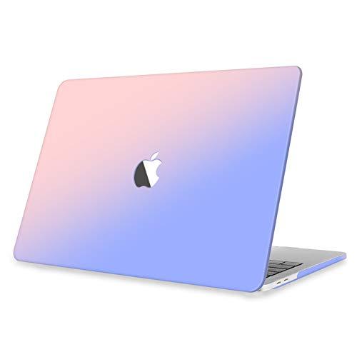 Fintie Funda para MacBook Pro 13 (2016-2020) Carcasa Dura con Acabado Mate Sedoso para MacBook Pro de 13 Pulgadas, Rosa Azul