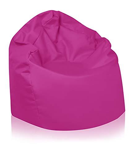 B58-Berlin Sitzsack XL Bag Sitzkissen Bodenkissen Kissen Sack In-und Outdoor 15 Farben (Pink)