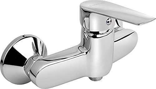 KFA 5116-010-00 - Grifo mezclador monomando para ducha con conectores S y rosetas, cromado