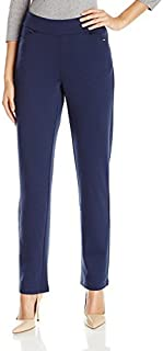 Chic Classic Collection womens Petite Knit Pull-On Pant Casual Pants