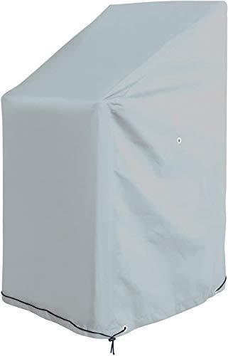 Woodtree Funda Protectora de poliéster Oxford para sillas de jardín 65 x 65 x 80/120 cm - Tejido de poliéster Oxford 220 gsm Color Antracita,Tama?o:65x65x80/120cm,Color:Arena