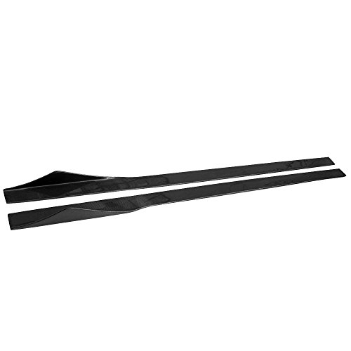 Side Skirts Compatible With Universal Vehicles 81 Inches, Black CF Sideskirt Rocker Moulding Air Dam Chin Diffuser Bumper Lip Splitter by IKON MOTORSPORTS