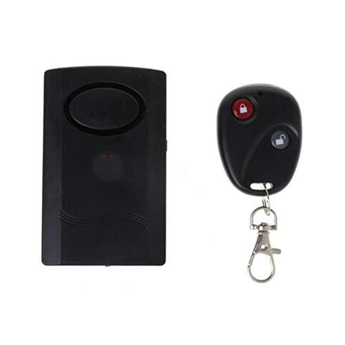 SHOH Draadloos trilalarm met afstandsbediening, veiligheidsalarm, vibratiesensor, intelligent draadloos alarm met afstandsbediening, voor fiets, deur, ramen, auto's, diefstalalarm, 120 dB superluid