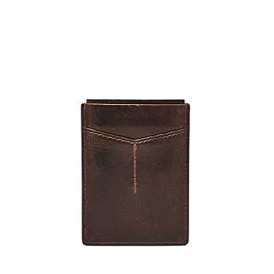 Fossil Men's RFID Card Case Wallet, Dark Brown, One Size