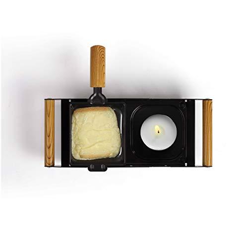 LIVOO MEN382N Kerzenabzieher für 2 Personen, Käse geschmolzen in 5 Minuten | funktioniert ohne Strom, leicht zu transportieren | 2 Fondue mit Antihaftbeschichtung + 2 Holzspatel inkl.