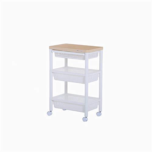 3-stufiger Küchenwagen, Aufbewahrungswagen für Badezimmer aus Metall, multifunktionaler Aufbewahrungswagen für Metallwagen auf Rollen, Küche im Badezimmer, Wäscherei für Kinderzimmer